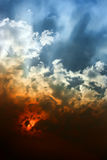 Sunset sky. Sky and clouds at sunset royalty free stock photography