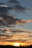 Sunset sky. Clouds at the evening Royalty Free Stock Photo