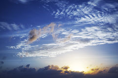 Sunset sky. View of a beautiful sky at sunset time Stock Image