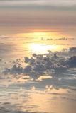 Sunset from the sky Royalty Free Stock Images