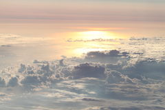 Sunset from the sky Stock Photo