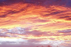 Sunset sky Stock Photos