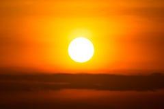 Sunset on sky Royalty Free Stock Photo