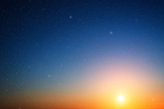 Sunset sky. Stock Photography
