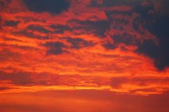 Sunset sky Stock Photo