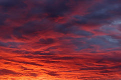 Sunset sky-7. Clouds and the sky while sunset Royalty Free Stock Image