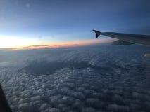 Sunset. From sky Stock Photos