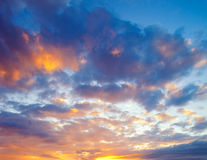 Sunset Sky. Vibrant Sunset Sky in Hawaii royalty free stock image
