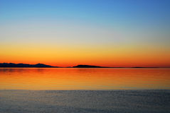 Sunset Sky And Sea Stock Images