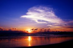 Sunset sky at Ao yai, Payam island Royalty Free Stock Photo