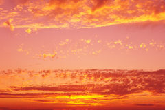 Sunset sky background. In yellow and pink hues Royalty Free Stock Image