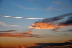 Sunset sky background Stock Photography