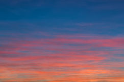 Sunset sky background. Royalty Free Stock Images