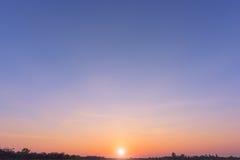 Sunset sky background Royalty Free Stock Photography