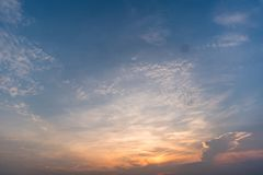 Sunset sky background,clouds with background royalty free stock images