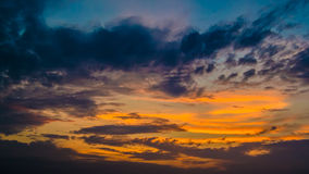 Sunset sky background Royalty Free Stock Images
