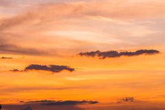 Sunset sky background. In the evening Stock Image