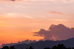 Sunset sky background. In the evening Royalty Free Stock Photo