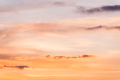 Sunset sky background. In the evening Royalty Free Stock Photos