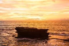 Sunset sky in Bali, Asia ocean Stock Images