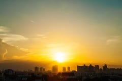 Sunset sky in Bangkok Thailand Royalty Free Stock Photos