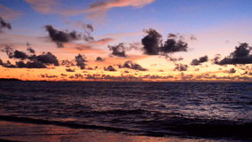 Sunset and sky at beach stock video