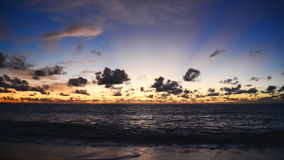 Sunset and sky at beach stock footage