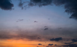 Sunset sky. Stock Images