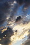 Sunset sky. Beautiful clouds in the sunset sky Royalty Free Stock Photos