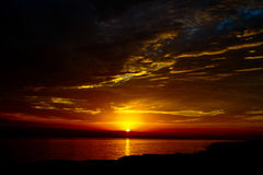 Sunset and the sky Royalty Free Stock Photos