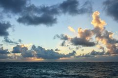 Sunset Sky in caribbean Royalty Free Stock Photo