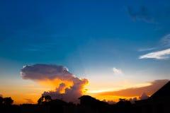 Sunset sky with cloud Stock Photos