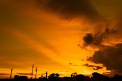 Sunset sky with cloud Stock Images