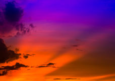 Sunset sky with cloud Royalty Free Stock Images