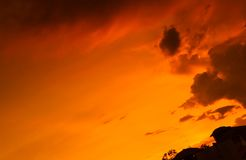 Sunset sky with cloud Stock Photography
