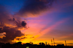 Sunset sky with cloud Royalty Free Stock Photography