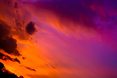 Sunset sky with cloud Royalty Free Stock Photo