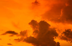 Sunset sky with cloud Stock Image