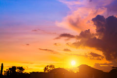 Sunset sky with cloud Royalty Free Stock Image