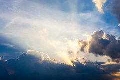 Sunset sky and cloud background Stock Photo