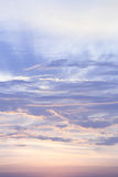 Sunset sky and cloud Stock Image