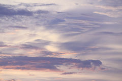 Sunset sky and cloud Stock Photography