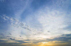 Sunset sky and cloud Background - landscape Stock Photos
