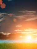 Sunset  sky  clouds Royalty Free Stock Images