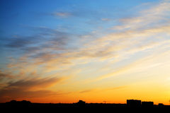 Sunset sky with clouds Stock Photo