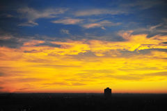Sunset sky and clouds royalty free stock photography