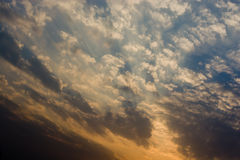 Sunset sky with clouds Royalty Free Stock Photo