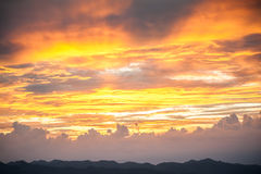Sunset sky with clouds Royalty Free Stock Images