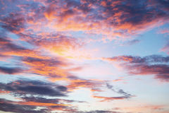 Sunset sky and clouds Royalty Free Stock Photo