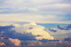 Sunset sky with clouds Stock Images